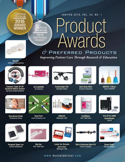 THE DENTAL ADVISOR 2016 Product Awards